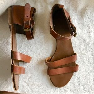 J Crew Italy flat sandals 7.5 brown